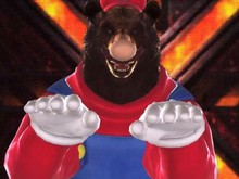 Dress up a bear as Mario in Tekken Tag 2 Wii U photo