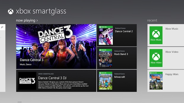 Xbox SmartGlass launch on Nov 26, supports Forza Horizon screenshot