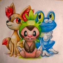 There's a TON of Pokemon X and Y fan art already photo