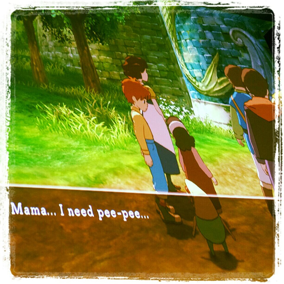 I helped a girl take a piss in Ni No Kuni photo