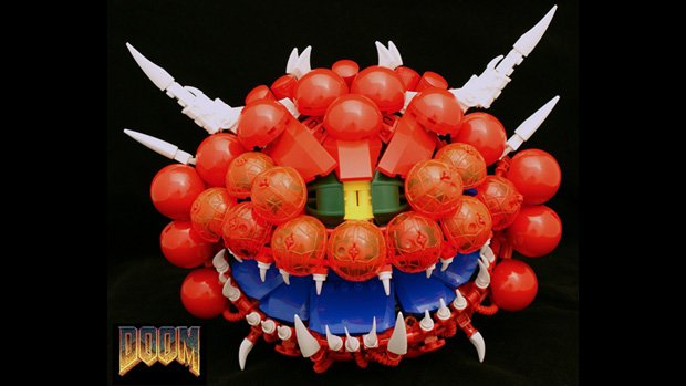 Doom's Cacodemon bursts forth from LEGO Hell photo