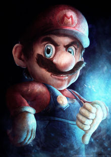 Speed-painted Mario wants you to check his package photo