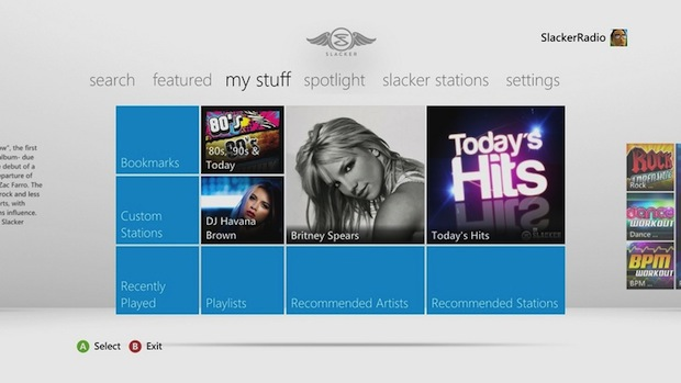 Slacker music service launches on Xbox 360 today photo