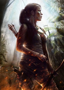 Lara Croft time-lapse painting makes you feel empowered photo