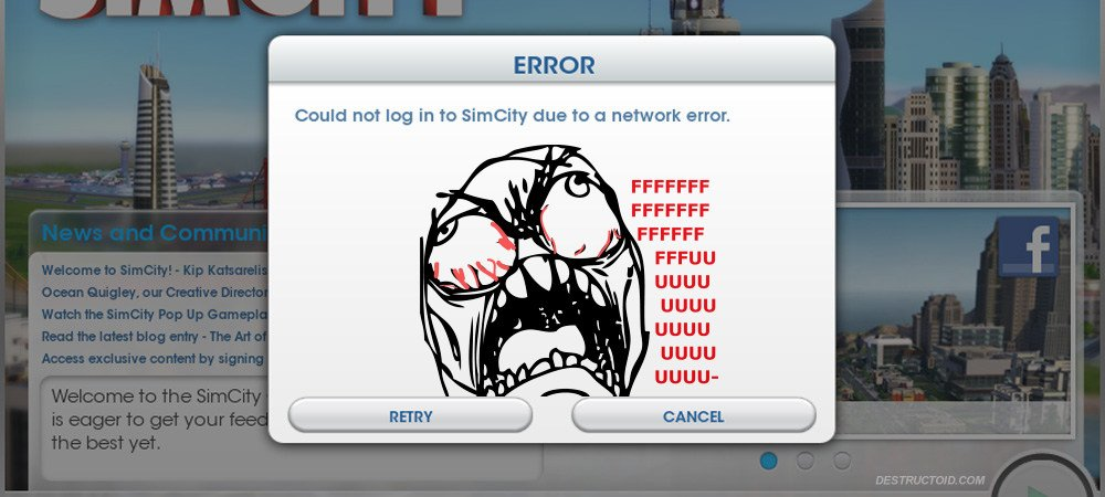 SimCity server woes photo