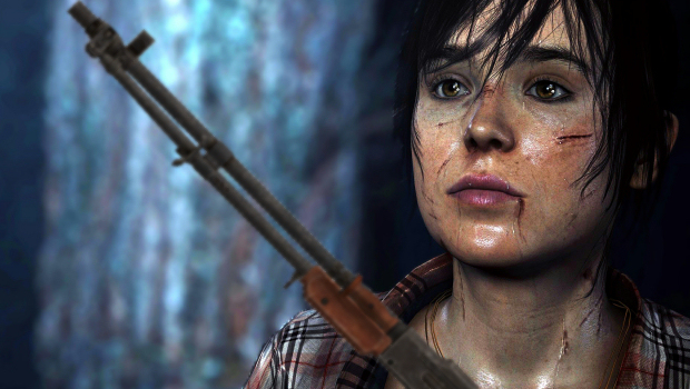 Marketers wanted guns on Beyond: Two Souls promo art screenshot