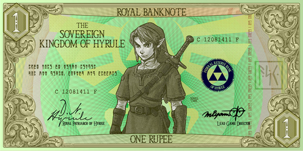 What if Hyrule's banks upgraded to paper currency? photo