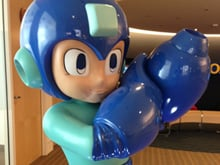 Mega Man statue photo