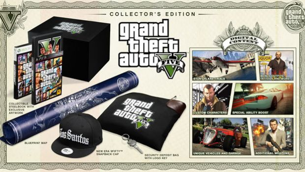 Grand Theft Auto V collector's edition, pre-order bonuses photo