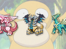 Shiny, legendary Pokemon photo