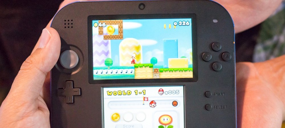 Nintendo 2DS: I really like this bread slice of a system photo