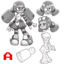 Vote on Mighty No. 9 support character Call's design photo