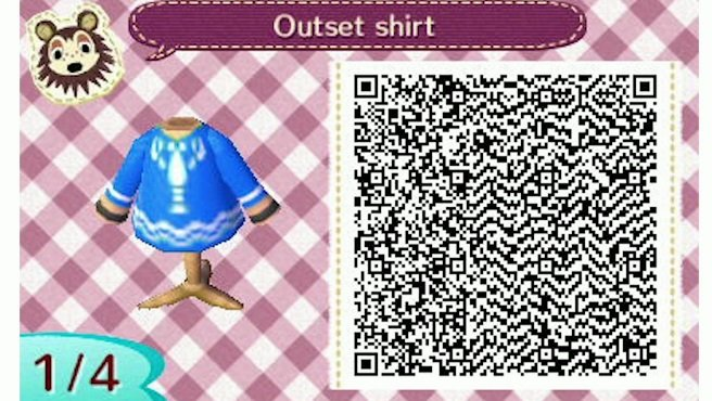 Grab Link's Wind Waker Shirt In Animal Crossing New Leaf Best Animal Crossing New Leaf Sewing Machine Qr Codes