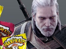 Farts 'N' Crafts: The Witcher 3 and warheads candy photo