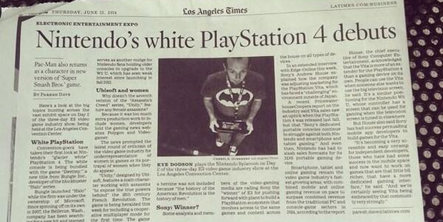 Nintendo's white PlayStation 4 debuts'
