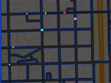 Pac-Man Google Maps photo