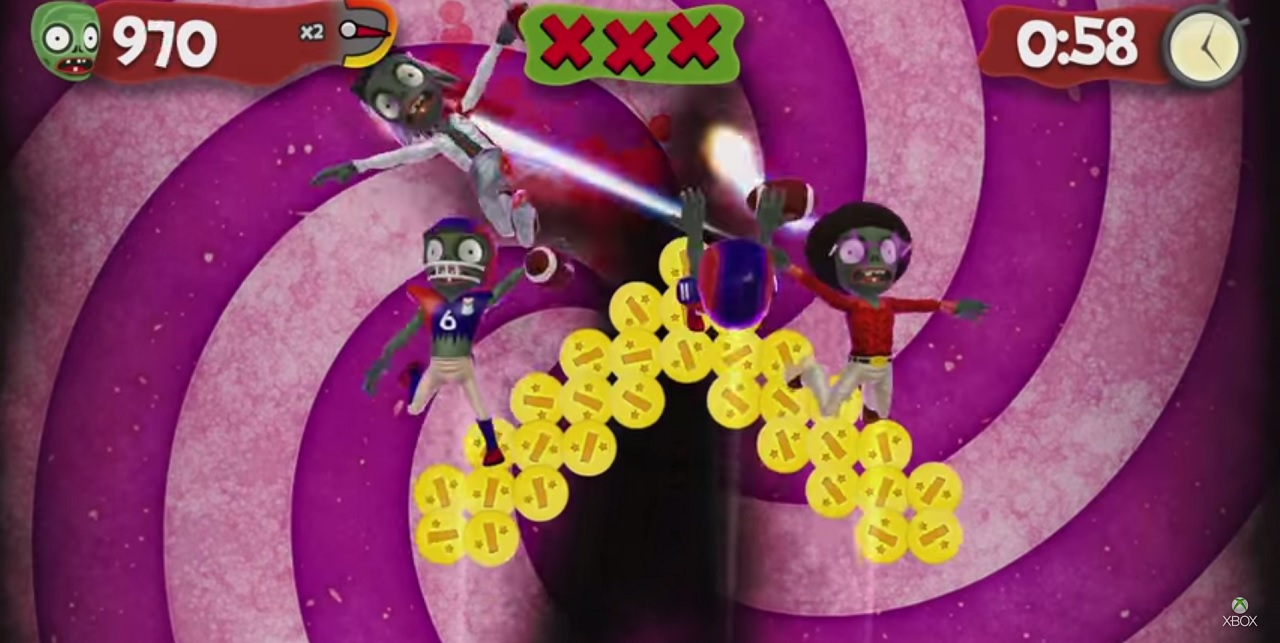It's just like Fruit Ninja, but with zombies