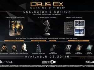 Deus Ex: Mankind Divided dated, with a whole mess of pre-order nonsense photo