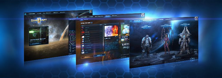 Blizzard unveils all new UI for StarCraft II screenshot