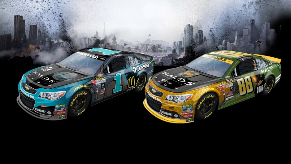 NASCAR unveils two Halo 5 themed paint schemes in real life screenshot