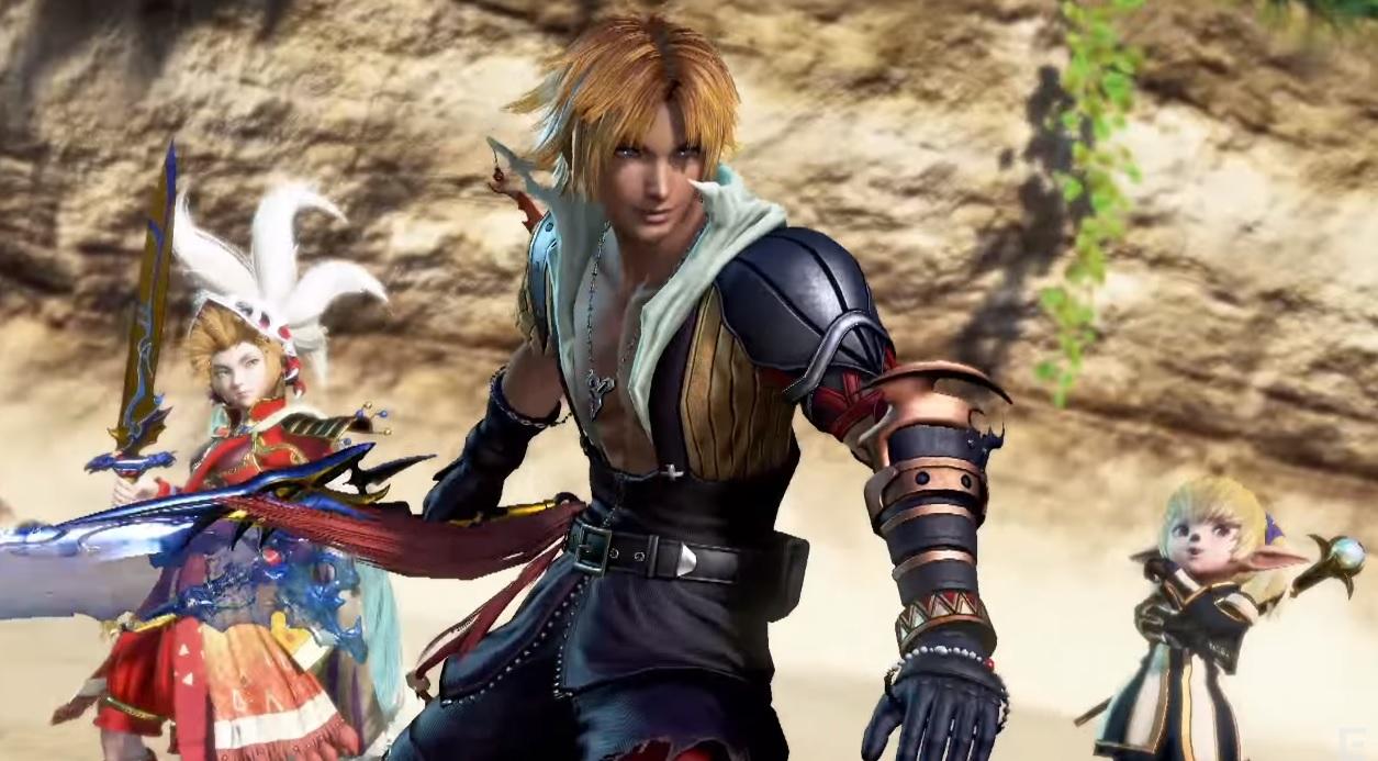 Hahahaha: Tidus shows his stuff in Dissidia Final Fantasy arcade
