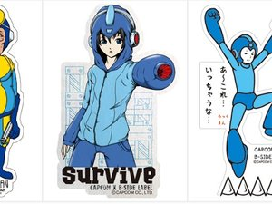 Weird Mega Man stickers photo