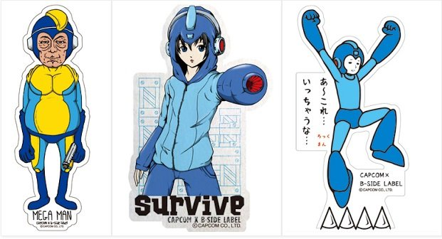 Japan gets some very interesting rockman stickers rockman corner