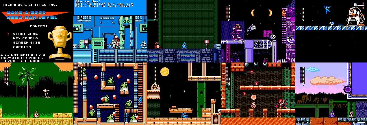 Make A Good Mega Man Level Contest Fan Game Has 26 Levels