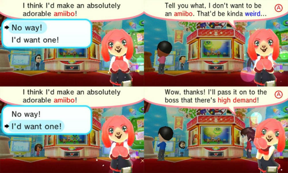 Nintendo Badge Arcade prompt hints at a themed amiibo screenshot