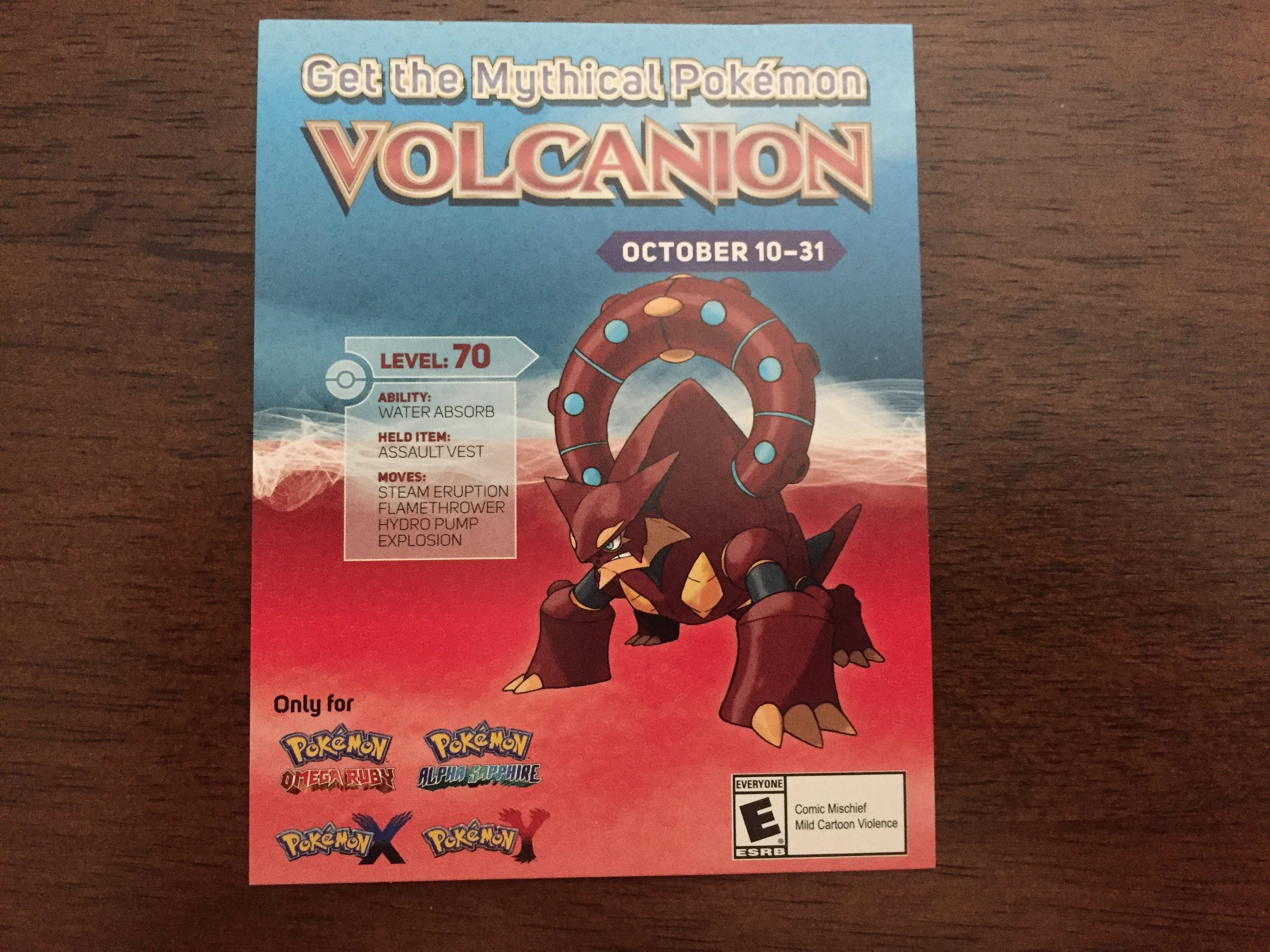 volcanion pokemon cards roll out nationally today in the us at