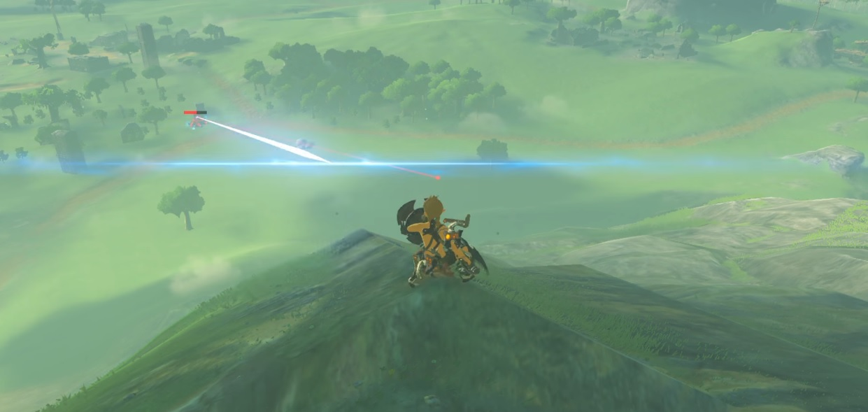 This long distance parry in Zelda: Breath of the Wild is amazing screenshot