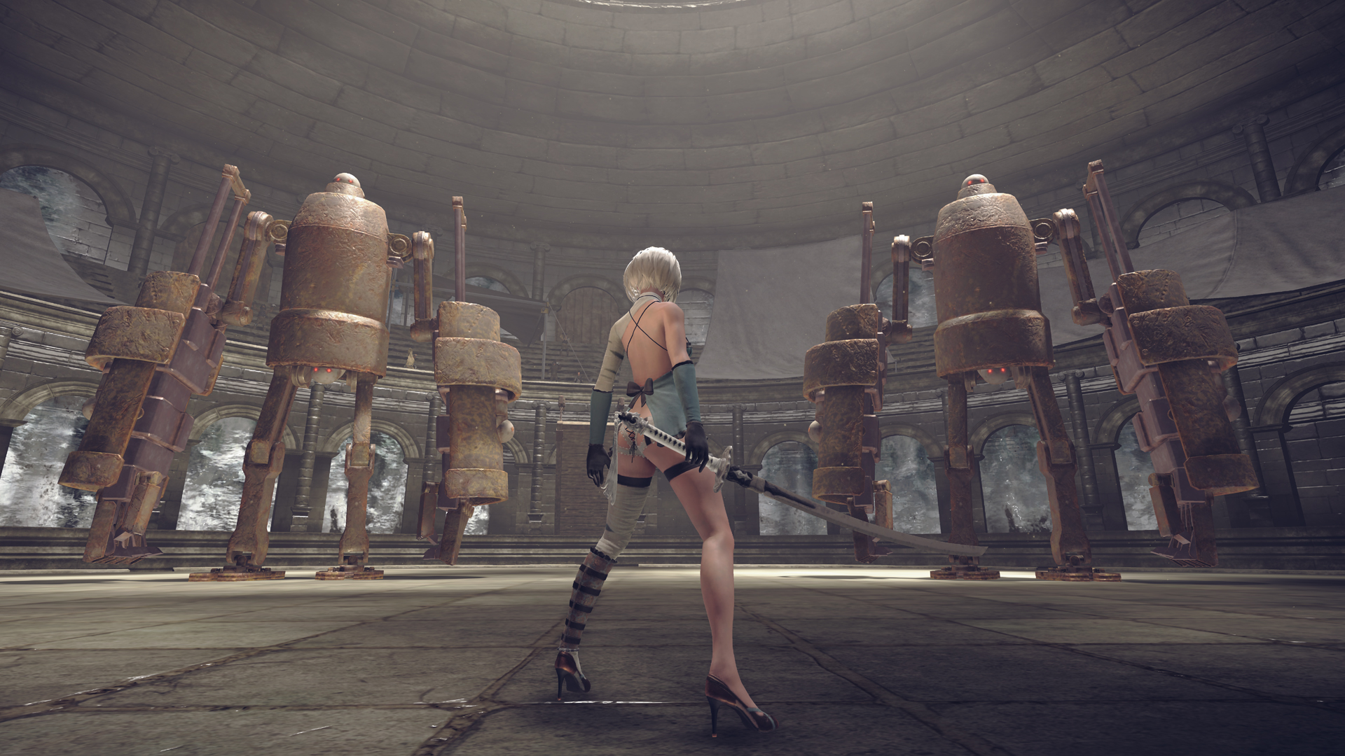 Crossover costumes, ass-kicking CEOs; new NieR: Automata DLC has it all screenshot