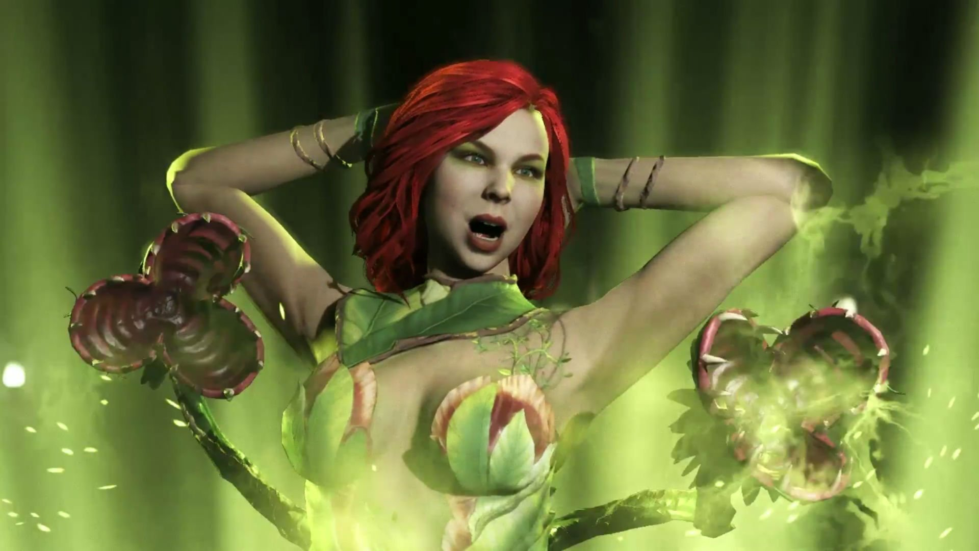 Poison Ivy knows that she's toxic in her full Injustice 2 gameplay trailer screenshot