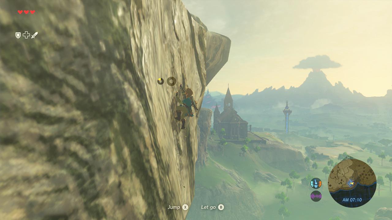 You could originally regain stamina while climbing in Zelda: Breath of the Wild, but Miyamoto nixed it screenshot