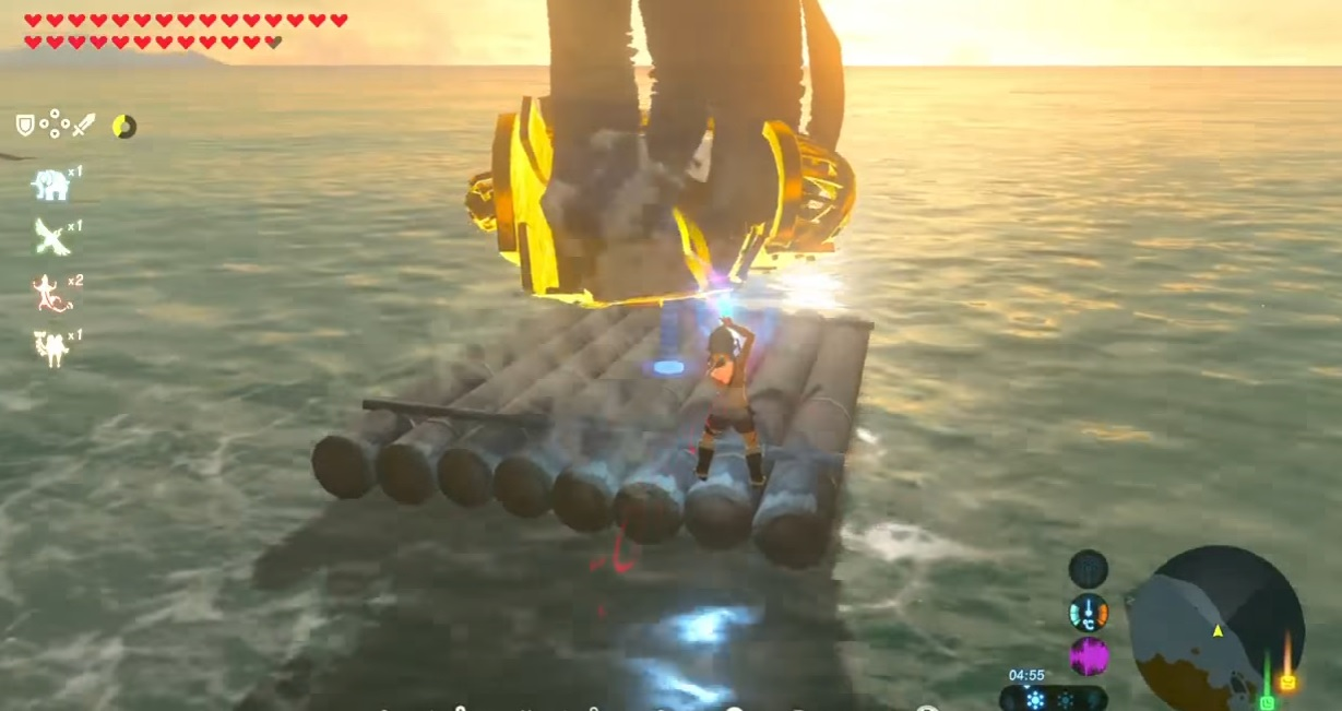 The next Zelda: Breath of the Wild discovery? Turbo surfing screenshot