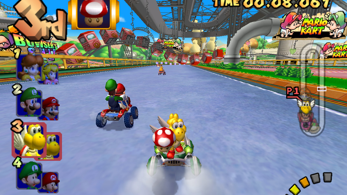 Baby Park in Double Dash is easily the best Mario Kart track screenshot