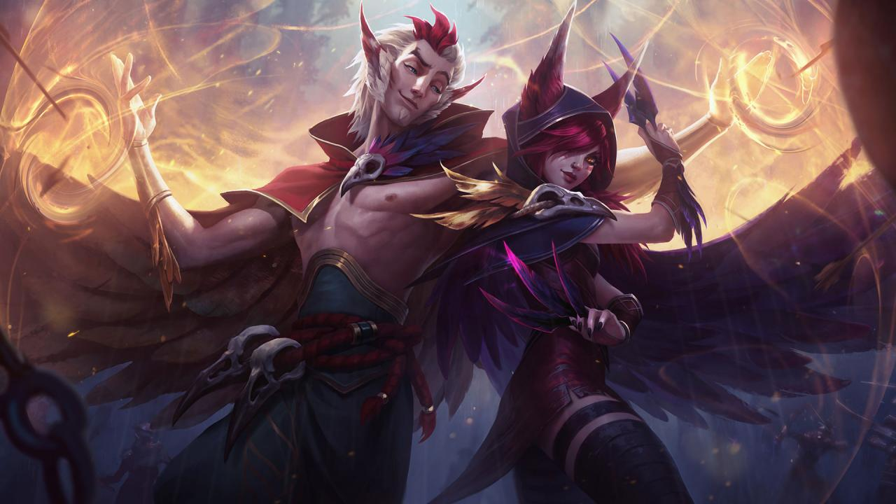 League of Legends' Xayah and Rakan are an unconventional duo screenshot