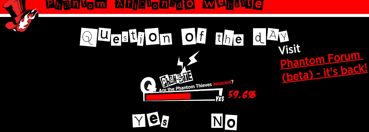 Persona 5's 'Phan-Site' blog is now real screenshot