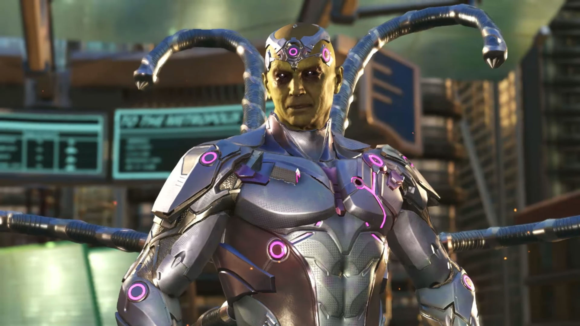 Brainiac is a tentacle monster in his full Injustice 2 gameplay trailer screenshot