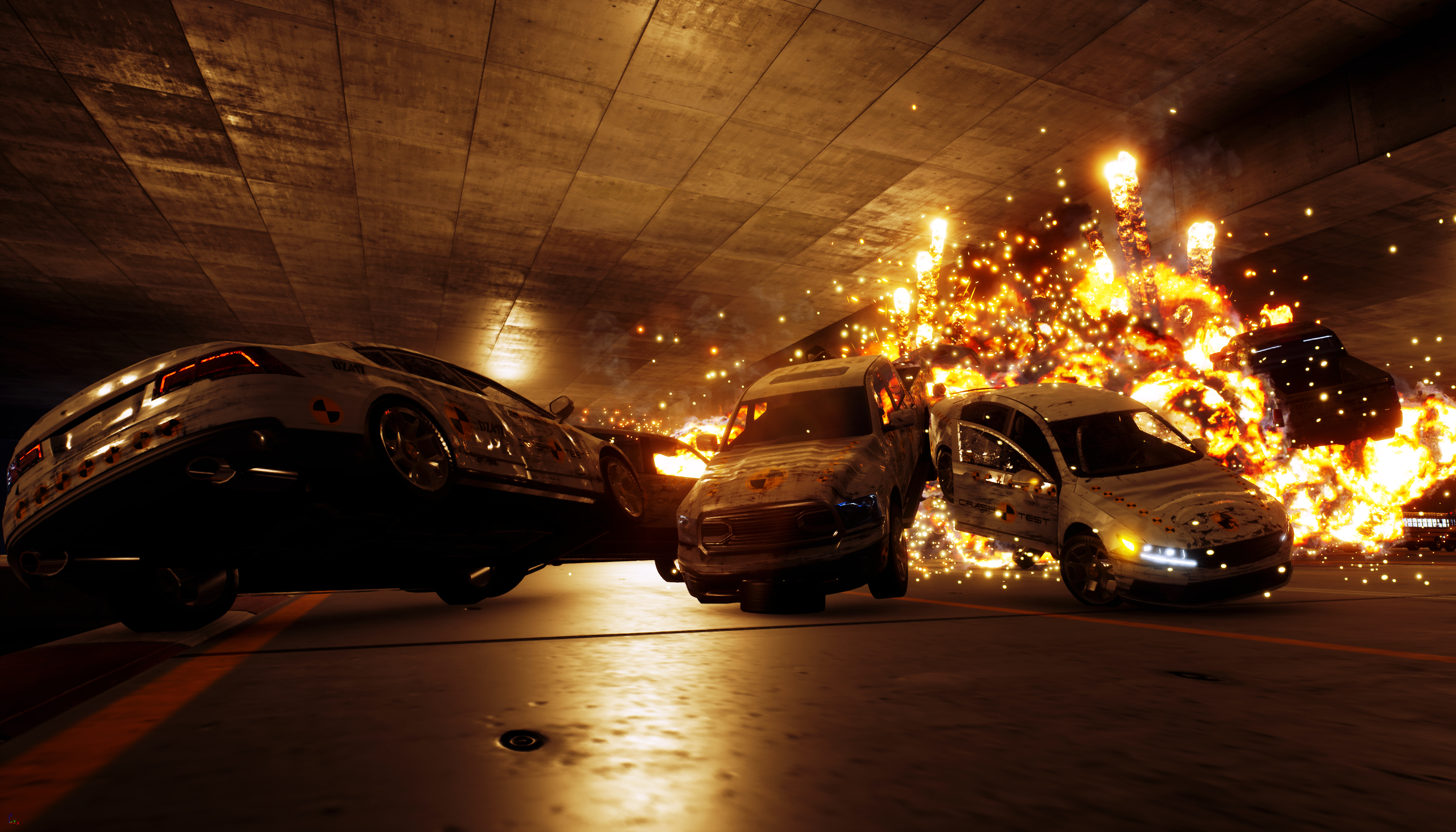 Three Fields announces Danger Zone, a spiritual successor to Burnout's crash mode screenshot