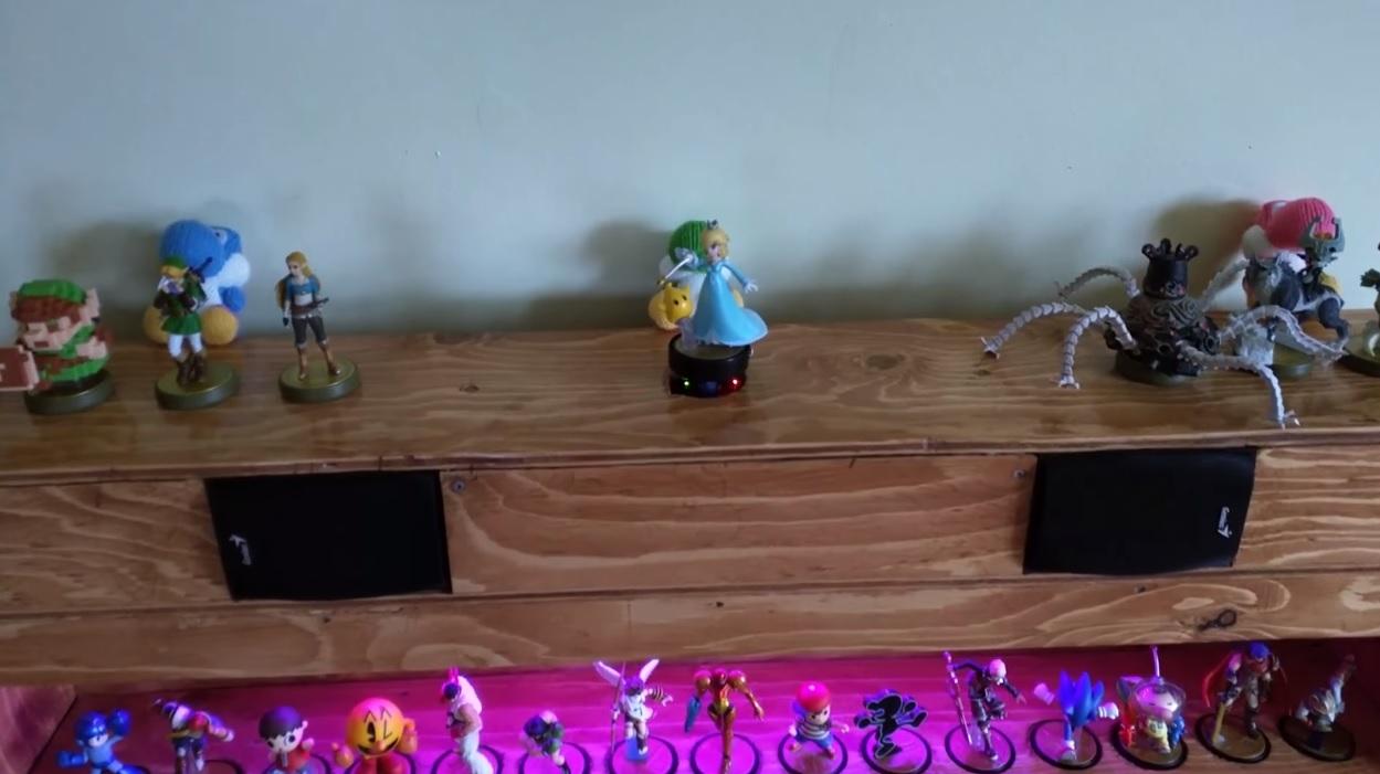 I want this interactive amiibo jukebox shelf so bad screenshot