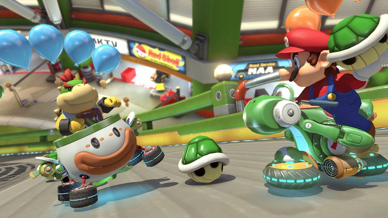 Watching people get pummeled by items in Mario Kart never grows old screenshot