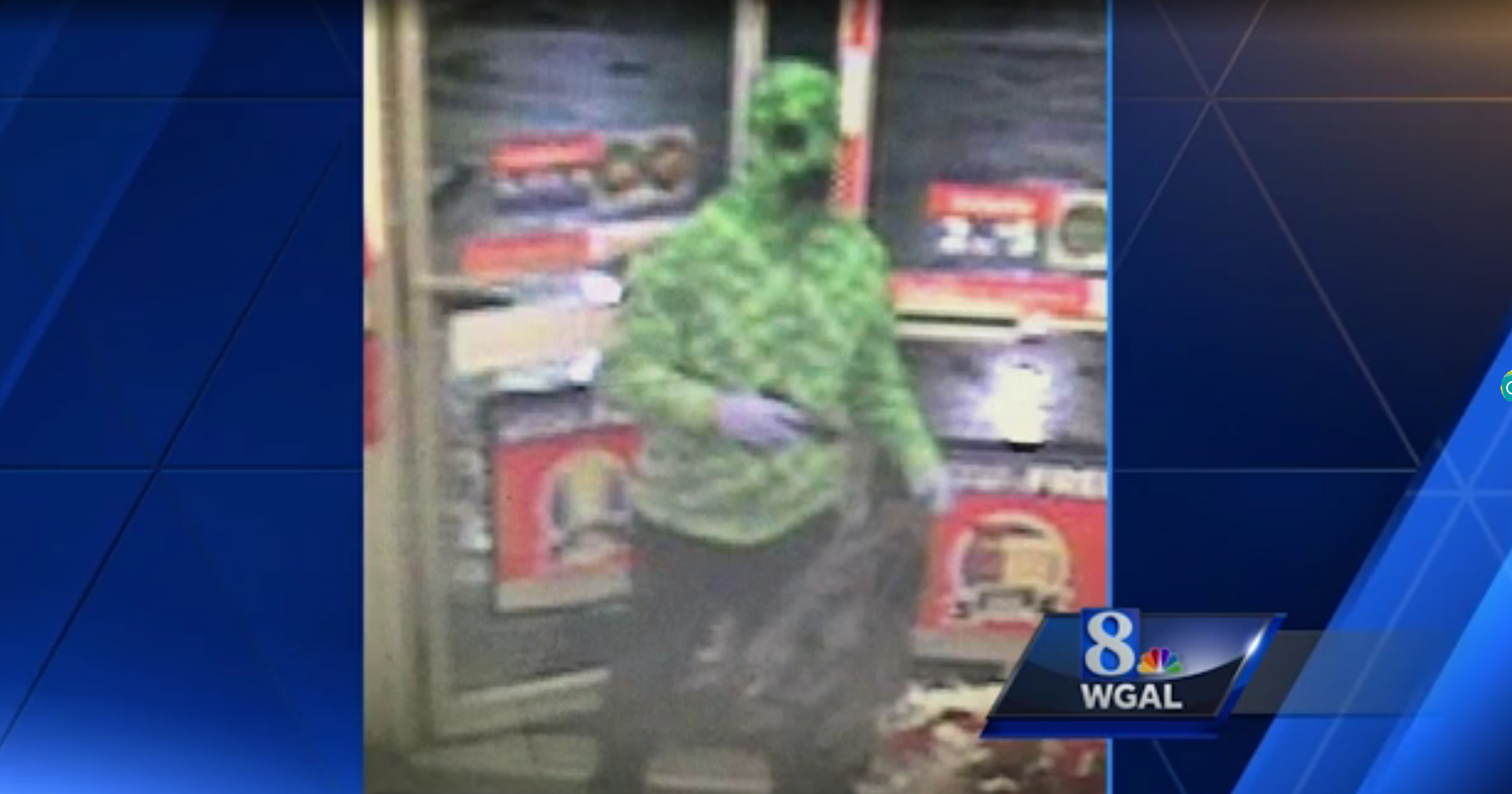 Armed robber wearing Minecraft outfit still at large screenshot