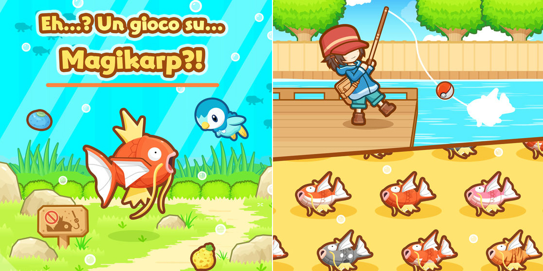 Magikarp finally gets its due in its own game screenshot
