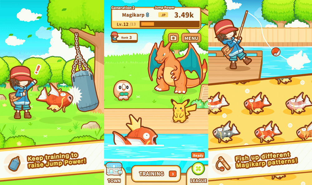 Pokemon Magikarp Jump Is Now Available Simple Magikarp Jump Patterns