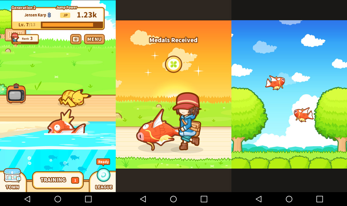 The no-fail guide to having fun with Pokemon: Magikarp Jump screenshot