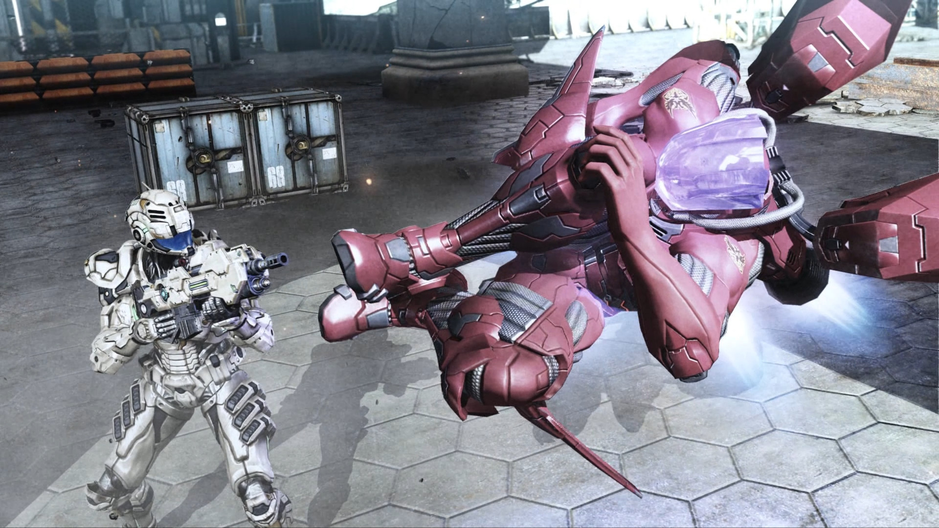 The PC port of Vanquish has one of those pesky high-frame-rate bugs screenshot