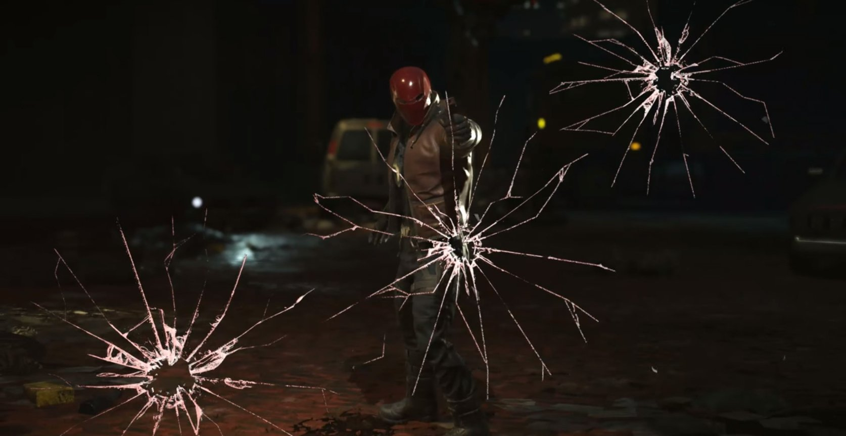 The Red Hood shows off all his toys in his reveal trailer screenshot