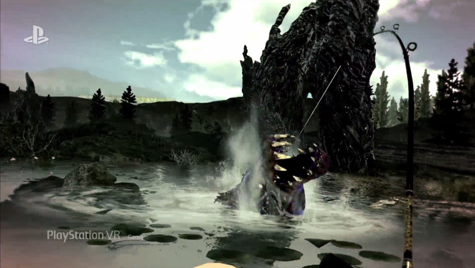 Monster of the Deep is a Final Fantasy XV fishing game for PSVR screenshot