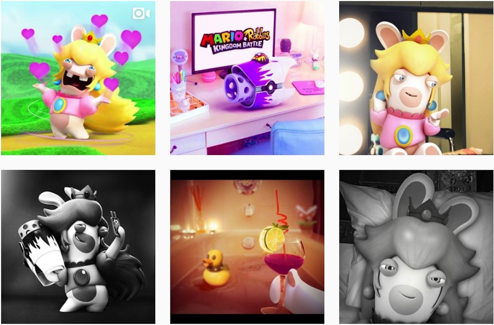 Nightmare fuel: You can follow Rabbid Peach on Instagram screenshot